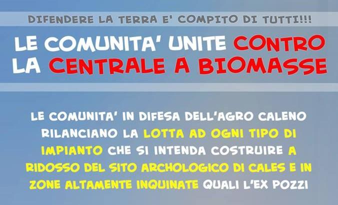 """Il """"Comitato per l'Agro Caleno: No Centrale a Biomasse"""" lancia la sfida alla centrale per il 21 e il 25 luglio"""