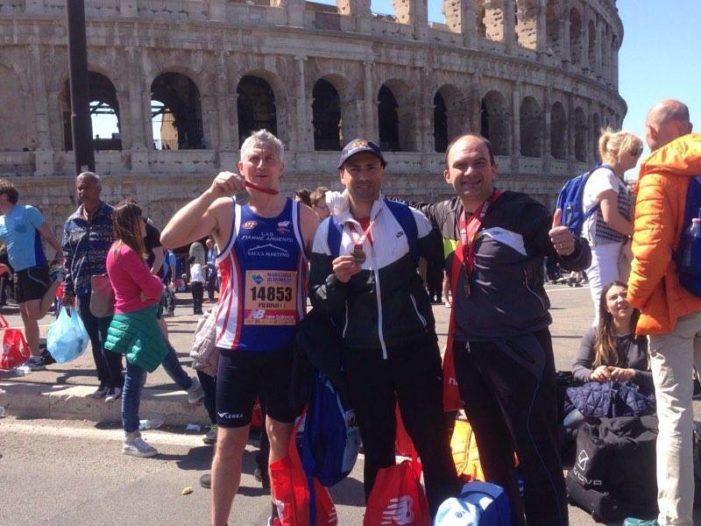 Foto notizia: tre vitulatini alla maratona di Roma