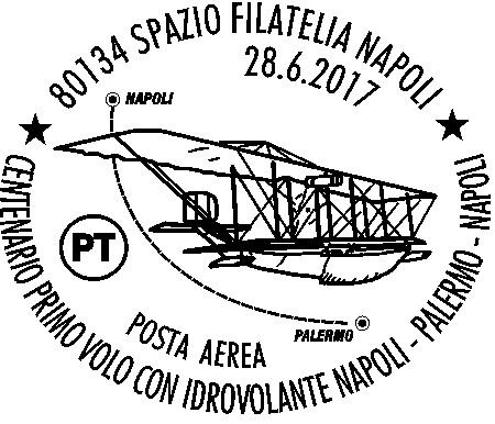 """Pronto un annullo filatelico per il """"Centenario Primo Volo Con Idrovolante Napoli-Palermo"""""""