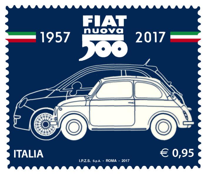 """""""Eccellenze del sistema produttivo ed economico"""": arriva un francobollo per la Fiat Nuova 500"""
