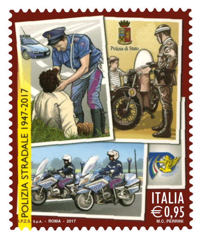 """Il Ministero dello Sviluppo emetterà un francobollo dedicato alla Polizia Stradale della serie """"Il senso civico"""""""