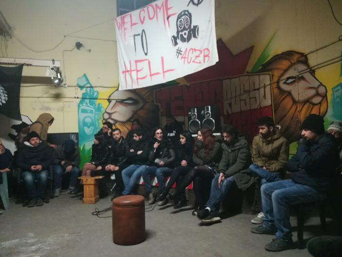"""""""Il Tempo Rosso non si tocca"""": ecco il messaggio che arriva dall'assemblea indetta dal centro sociale dopo la richiesta di sequestro e le accuse nei confronti dei militanti da parte della Procura della Repubblica"""