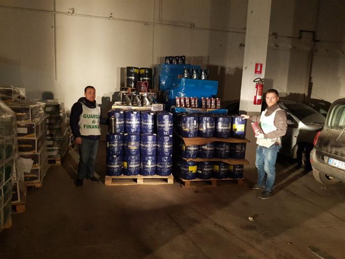 Sequestrate 71 tonnellate di olio lubrificante per motori introdotto in Italia in totale evasione dell'imposta e 2 autoarticolati provenienti dalla Lituania