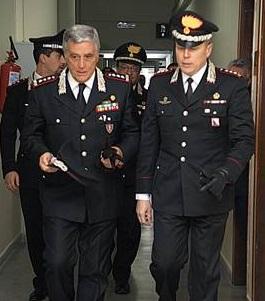 """Il Comandante Interregionale """"Ogaden"""" in visita ai Carabinieri di Caserta"""