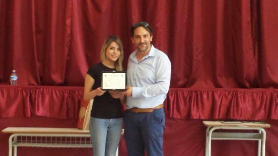 Progetto Spa di educazione alimentare, l'Amministrazione premia la dottoressa Merolillo