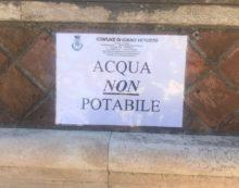 """Carusone: """"Dopo la nota dell'Asl 'habemus' il cartello dell'acqua non potabile alle tre fontanelle"""""""