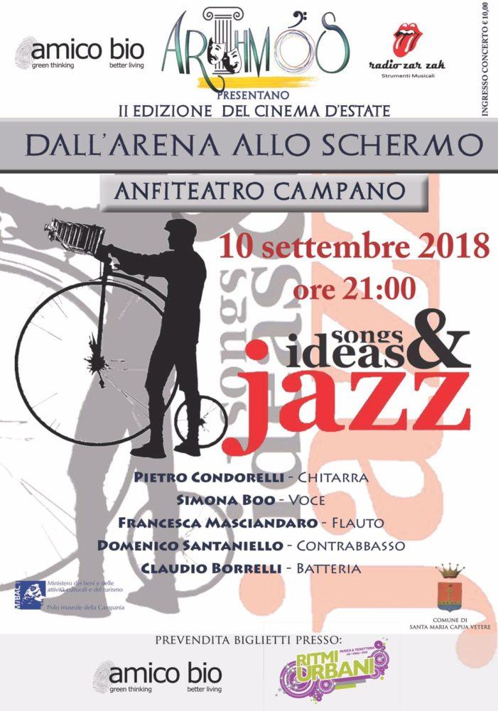La musica jazz chiude la rassegna Dall'arena allo schermo: appuntamento a lunedì 10 settembre