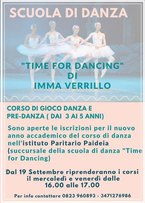 Il 19 settembre 2018 inizia il Corso di Gioco Danza e Pre Danza all'Istituto Paritario Paideia di Capua