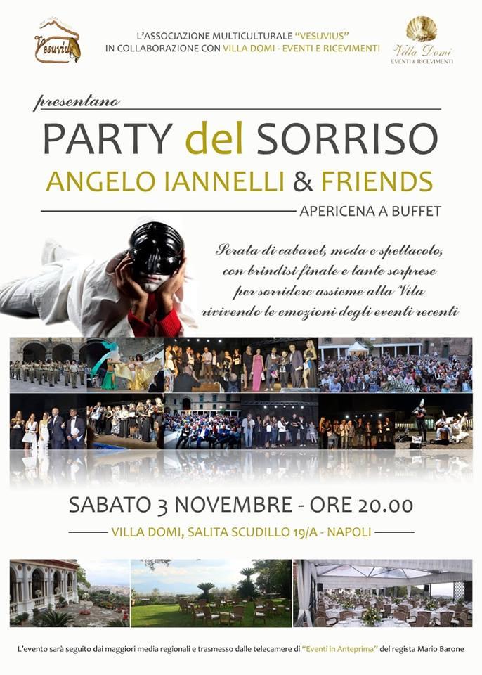 """A Villa Domi si celebra il """"Party del Sorriso"""". Con Angelo Iannelli una parata di stelle"""