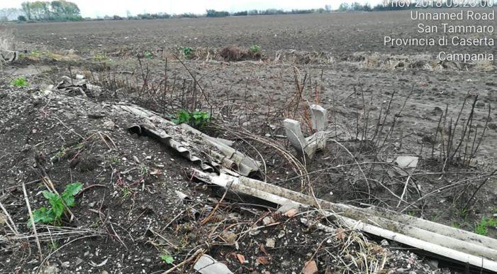 Ancora rifiuti abbandonati vicino a terreni agricoli