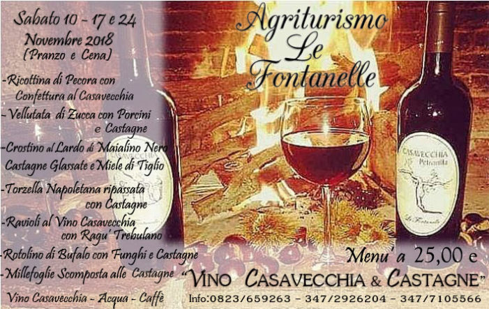 """Ecco la 7^ Edizione della manifestazione """"Vino Casavecchia & Castagne """""""