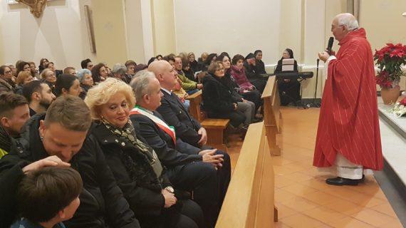 Celebrazione della Messa Solenne in onore di Santo Stefano (Patrono di Vitulazio) con le autorità locali ed il gonfalone comunale (video)