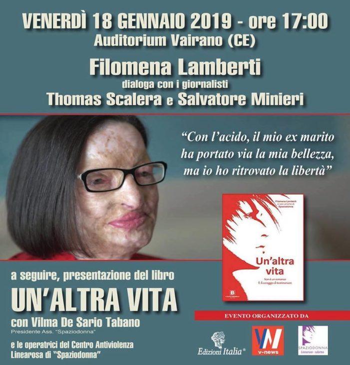 """La storia di Filomena Lamberti, dopo """"Amore criminale"""" e """"Le Iene"""", approda in provincia di Caserta per un incontro imperdibile"""