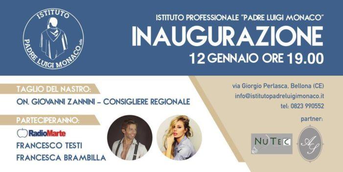 """Tutto pronto per l'inaugurazione dell'Istituto Professionale """"Padre Luigi Monaco""""."""