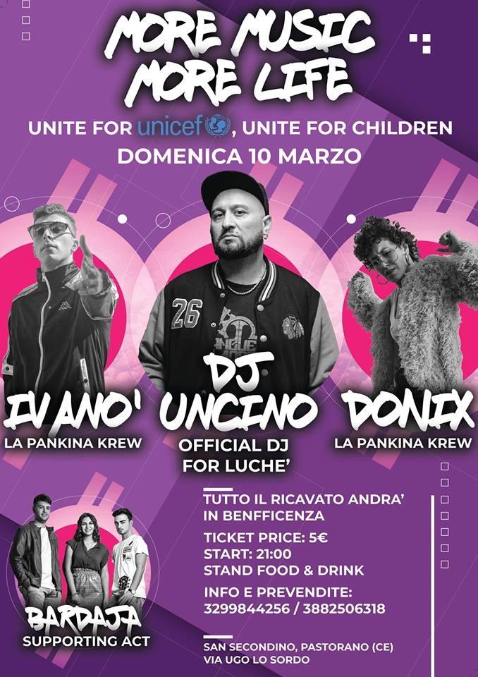 Il 10 marzo a San Secondino serata di beneficenza con I Bardaja e dj Uncino