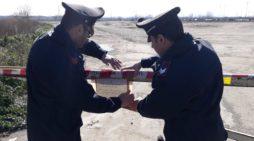 Carabinieri forestali hanno sottoposto a sequestro preventivo un'estesa area interessata da un ingente illecito smaltimento di rifiuti speciali
