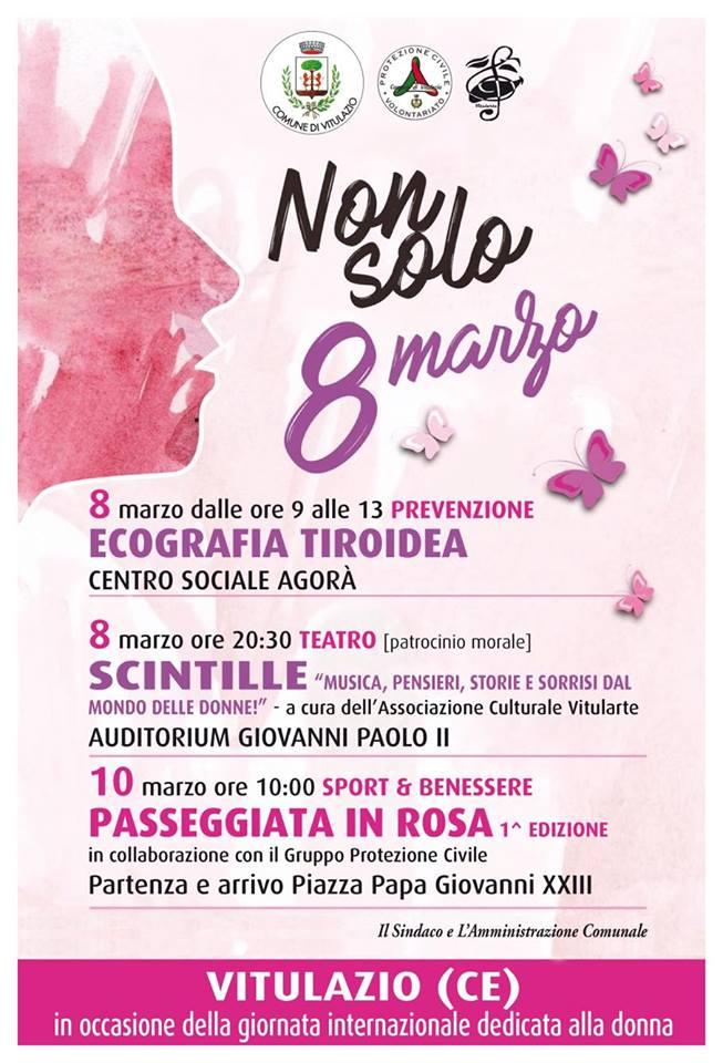 Festa della donna, in programma tre iniziativepromosse dal Comune di Vitulazio in vista dell'8 marzo