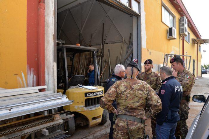 Sequestrati un capannone e un'autocarrozzeria per smaltimento e stoccaggio illecito di rifiuti pericolosi