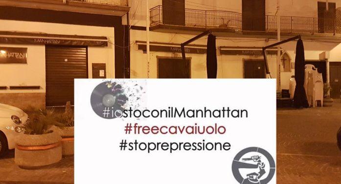 """Chiusura del """"Bar Manhattan"""", una manifestazione a sostegno del noto locale di Gianluca Di Lillo e le tante testimonianze di solidarietà"""