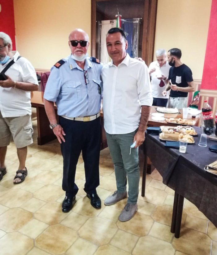 Pastorano, gli auguri del consigliere Di Gaetano al Maresciallo Maggiore Angelo Messuri